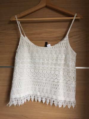 H&M Divided Spaghetti Strap Top white-natural white