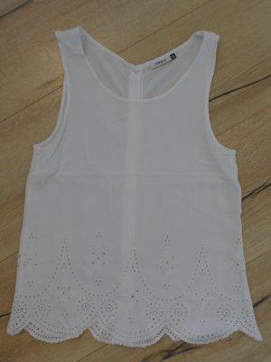 Only Blouse sans manche blanc coton
