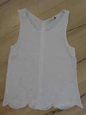 Only Blusa sin mangas blanco Algodón