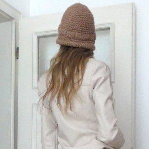 Boho Vintage Mütze beige