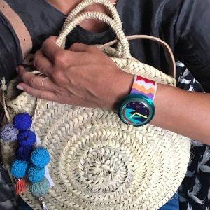 Basket Bag cream-blue