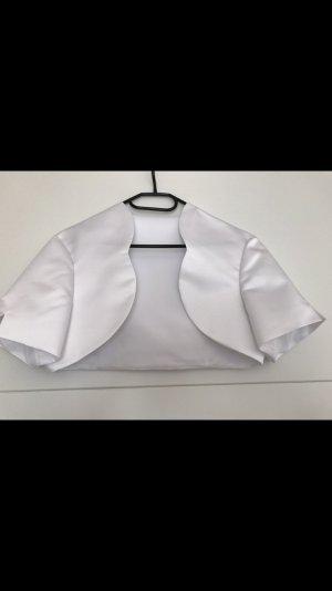 Bolero white silk