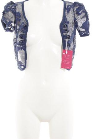 Bolero blau florales Muster Spitzen-Optik