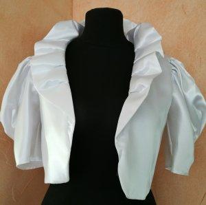 Bolero Brautkleid Satin Weiß Hochzeitskleid
