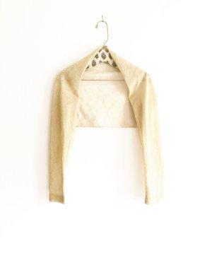 bolero / dancewear / armwear / lurex / gold / oatmeal / vintage / granny
