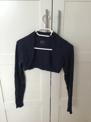 Esprit Boléro en tricot bleu foncé tissu mixte
