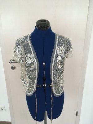 Coolwater Gilet tricoté blanc-argenté