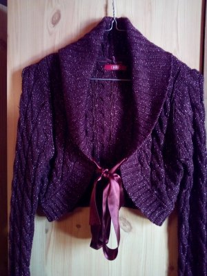 Knitted Bolero black brown-bronze-colored
