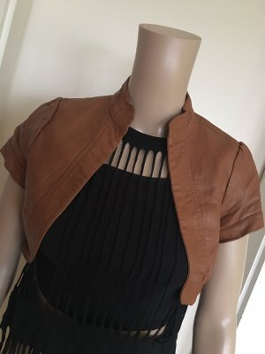 Blind Date Bolero cognac-coloured