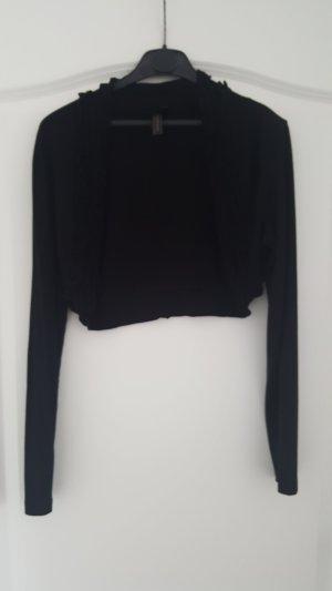 Bolero in schwarz aus Baumwolle + Viskose