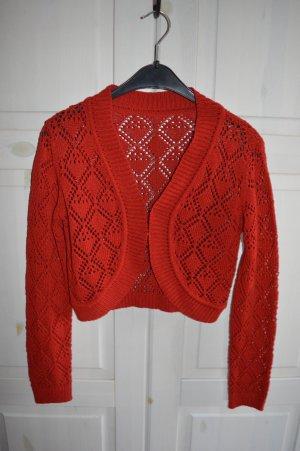 Knitted Blazer red