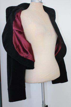 Bolero Jacke Blazer Gr. 20 EUR 48 Florenz&Fred Samt schwarz Baumwolle gothic