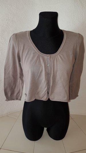 edc Boléro en tricot gris brun