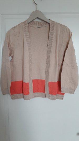H&M Bolero lavorato a maglia crema-salmone Cotone