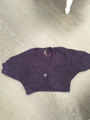 H&M Bolero lavorato a maglia viola scuro