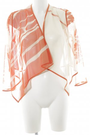 Bolero neon orange-white striped pattern beach look