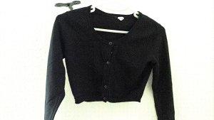 H&M Divided Boléro en tricot noir coton