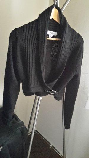 Bolero-Strick-Jacke in schwarz