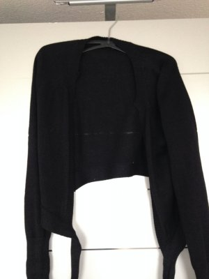 Bolero Strickjacke in Gr. L zum Knoten schwarz