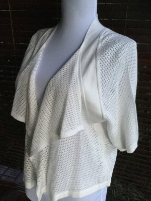 Betty Barclay Short Sleeve Knitted Jacket white