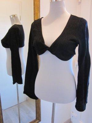 Bolero Top Überzieher für die Schultern schwarz Glitter Gr L