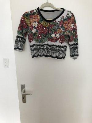 Twin-Set Simona Barbieri Bolero lavorato a maglia multicolore