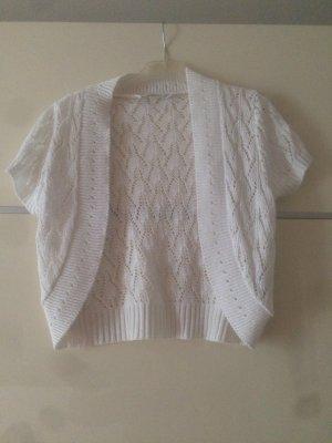 Bolero weiß gestrickt sommerlich festlich