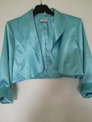 Heine Blouse brillante turquoise fibre textile