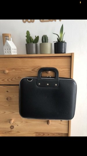 Laptop bag black-silver-colored