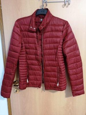 Massimo Dutti Bomber Jacket dark red