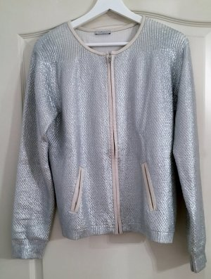 iheart Bomber Jacket silver-colored cotton