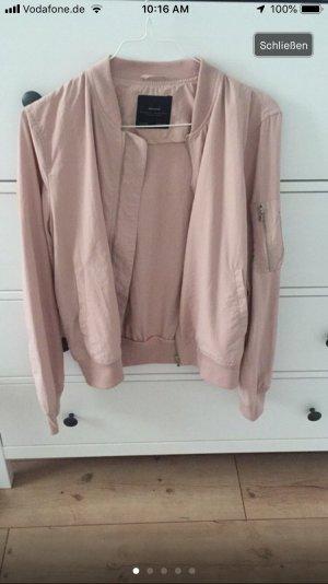 Zara Bomberjack stoffig roze