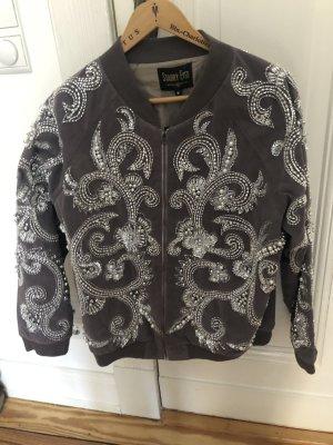 "Bomber Jacket Pearl Details ""Balmain Look"" Blogger Style"