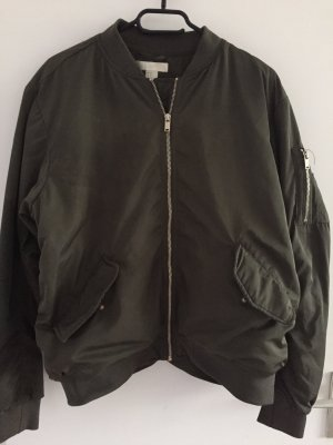H&M Bomber Jacket khaki-green grey