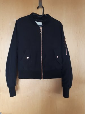 Tally Weijl Giacca bomber nero-color oro rosa