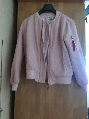 Giacca bomber rosa chiaro