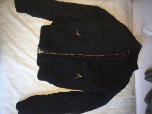 Bershka Flight Jacket black-ocher