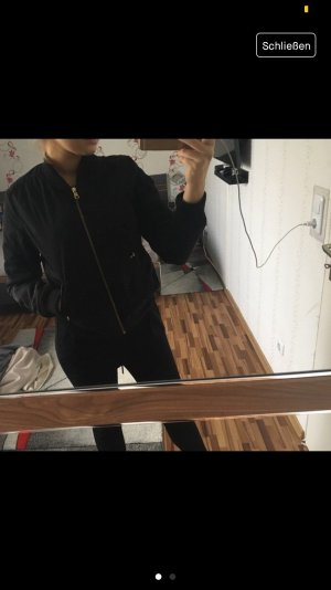 Bershka Bomber Jacket gold-colored-black