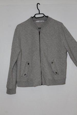 Bomberjacke aus Baumwolle in grau