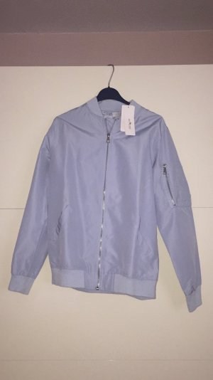 Blouson aviateur bleu clair-bleu azur