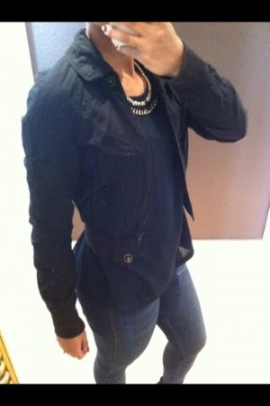 H&M Bomber Jacket black cotton