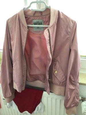 Tally Weijl Chaqueta bomber rosa-color oro