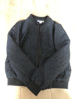H&M Bomber Jacket black-dark blue