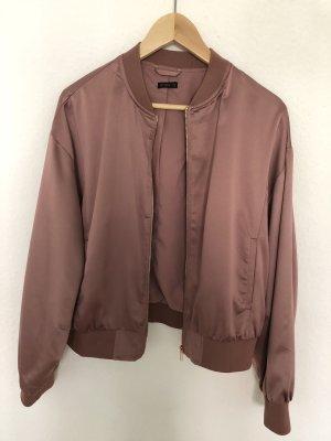 Oysho Bomber Jacket rose-gold-coloured