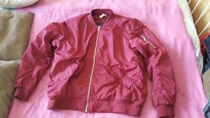 H&M Bomber Jacket dark red
