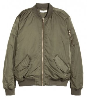 H&M Bomberjack zilver-khaki
