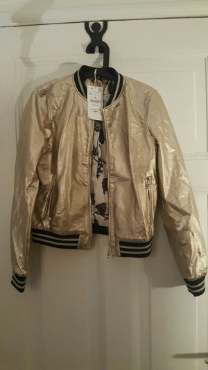 bomberjacke in gold zara