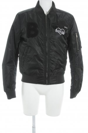 "Bomberjack ""Ladies Badge Bomber"" zwart"