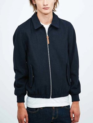 Urban Outfitters Bomberjack donkerblauw Wol
