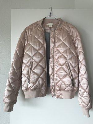 H&M Blouson aviateur or rose polyester